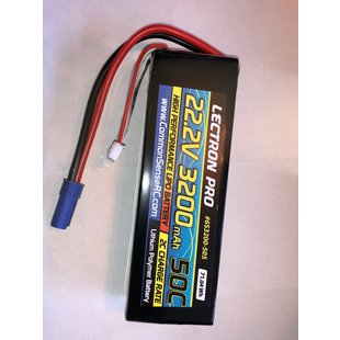 Lectron Pro 22.2V 3200mah 50C Lipo w/Ec5 connector
