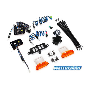 LED light set, complete with power supply (contains headlights, tail lights, side marker lights, distribution block, and power supply) (fits #8010 body)
