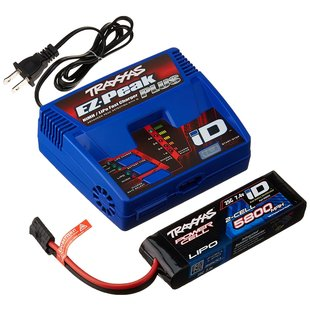 2992 Battery/charger completer pack (includes #2970 iD charger (1), #2843X 5800mAh 7.4V 2-cell 25C LiPo battery (1))