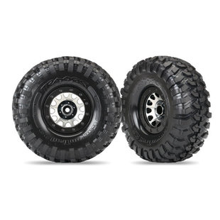 Tires and wheels, assembled (Method 105 black chrome beadlock wheels, Canyon Trail 2.2' tires, foam inserts) (1 left, 1 right)