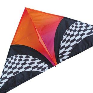 """56"""" Delta, Orange Optical Art"""