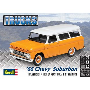 Revell Trucks '66 Chevy Suburban Plastic Model Kit  Revell Trucks '66 Chevy Suburban Plastic Model Kit