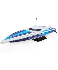"36"" Sonicwake,Wht,Self-Right Deep-V Brushless RTR"