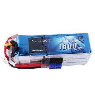 Gens Ace 22.2V 60C 6S 1800mAh Lipo Battery Pack with EC3 Plug