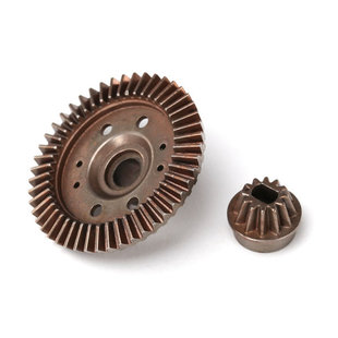 Ring gear, differential/ pinion gear, differential (12/47 ratio) (rear)