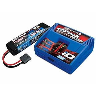 2995 - Battery/charger completer pack (includes #2970 iD® charger (1), #2869X 7600mAh 7.4V 2-cell 25C LiPo battery (1))