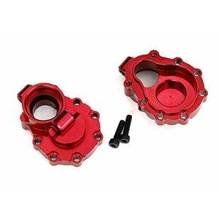 8253R - Portal housings, inner (rear), 6061-T6 aluminum (red-anodized) (2)/ 2.5x10 CS (2)
