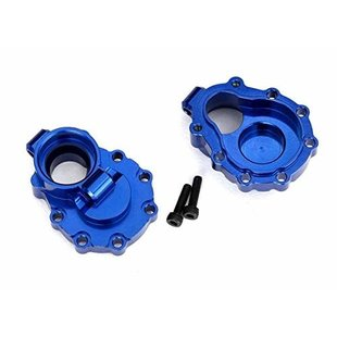 8253X - Portal housings, inner (rear), 6061-T6 aluminum (blue-anodized) (2)/ 2.5x10 CS (2)