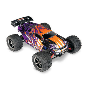 71076-3 - E-Revo® VXL: 1/16 Scale Electric 4WD Racing Monster Truck. Ready-To-Race® with TQi Traxxas Link™ Enabled 2.4GHz Radio System, Velineon® VXL-3m brushless ESC (fwd/rev), and Traxxas Stability Management (TSM)®. Includes: 6-Cell NiMH 1200mAh Traxxa