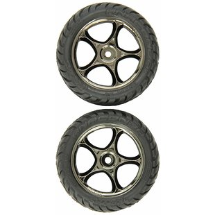 Tires & wheels, assembled (Tracer 2.2' black chrome wheels, Anaconda 2.2' tires with foam inserts) (2) (Bandit front)