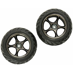 Tires & wheels, assembled (Tracer 2.2' black chrome wheels, Anaconda 2.2' tires with foam inserts) (2) (Bandit rear)