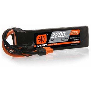 2200mAh 3S 11.1V 100C Smart LiPo Battery; IC3