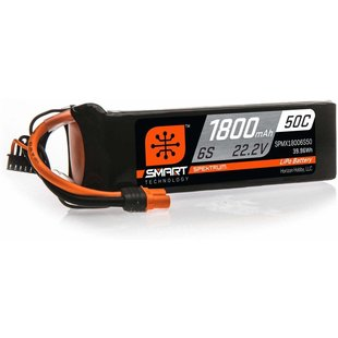 1800mAh 6S 22.2V 50C Smart LiPo Battery; IC3