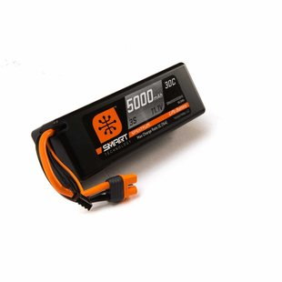 Spektrum Smart LiPo Battery Pack: 5000mAh 3S 11.1V 30C with IC3 Connector (EC3 Compatible), Hard Case