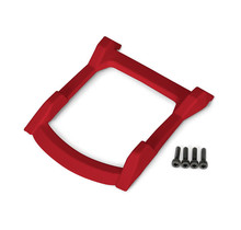Traxxas 6728R - Skid Plate, roof (Body) (red)/ 3x12mm CS (4)