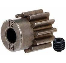 Gear, 12-T pinion (1.0 metric pitch) (fits 5mm shaft)/ set screw (compatible with steel spur gears)