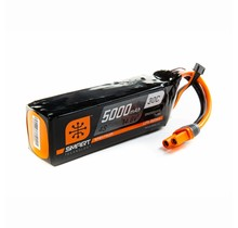 Spektrum Smart RC LiPo Battery Pack 5000mAh 6S 22.2V 50C, IC3 IC5 Connectors (EC3 EC5 Compatible): SPMX50006S50