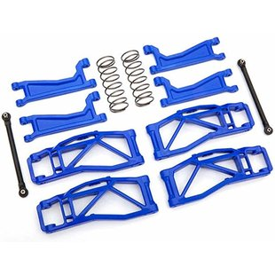 8995X - Suspension kit, WideMaxx™, blue (includes front & rear suspension arms, front toe links, rear shock springs)