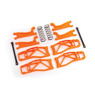 8995T - Suspension kit, WideMaxx™, orange (includes front & rear suspension arms, front toe links, rear shock springs)