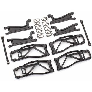 8995 - Suspension kit, WideMaxx™, black (includes front & rear suspension arms, front toe links, rear shock springs)