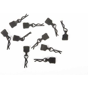 3mm Body Clip w/Tab, Black (10pc)