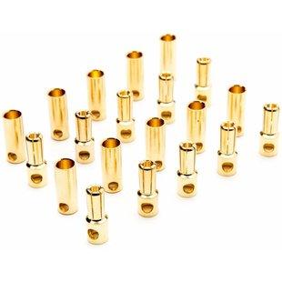 Gold Bullet Connector Set, 6.5mm (10)