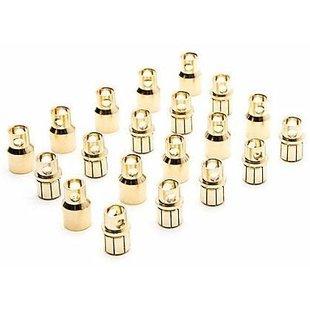 Gold Bullet Connector Set, 8.0mm (10)