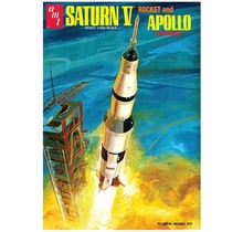 "AMT NASA Saturn V Apollo Moon Rocket Replica 1:200 Scale (21"" Long) Model Kit"