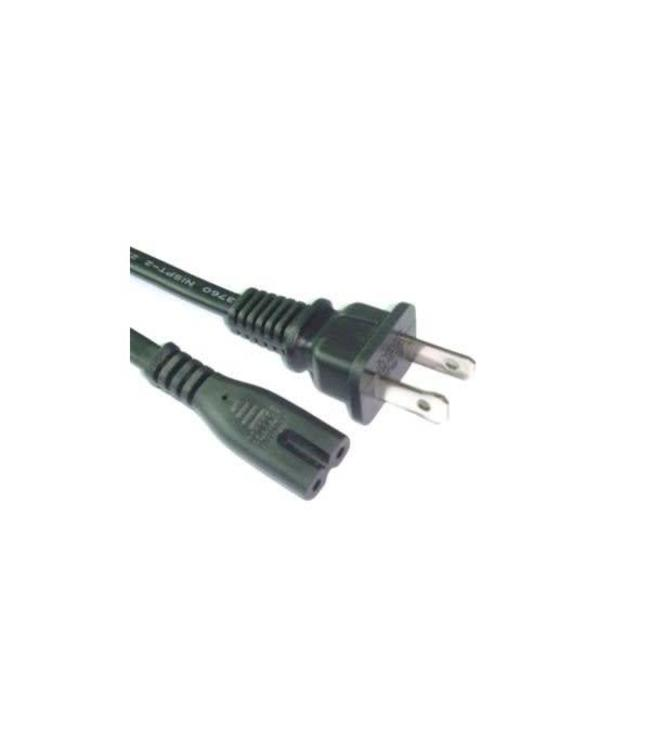 Cable d'alimentation 2 prong 18awg, 2.5A, 15 pi.