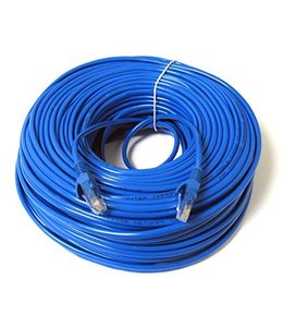 Câble réseau Ethernet Cat6, T568B, Bleu, 100 pi.