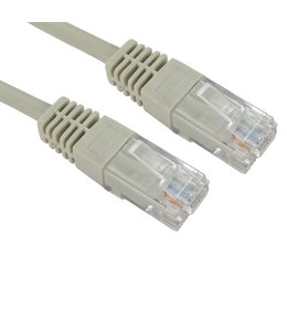 GlobalTone CAT6 ETHERNET NETWORK CABLE 14FT Grey