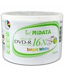 RIDATA Inkjet White Printable DVD-R 16X 50PC
