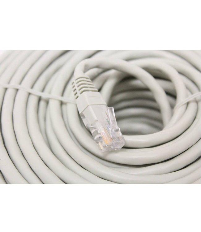 Câble réseau Ethernet Cat6, T568B, Gris, 100 pi.