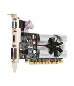 Carte Video MSI GeForce 210 1GB DDR3 LowProfile PCIEX 2.0 DVI HDMI VGA