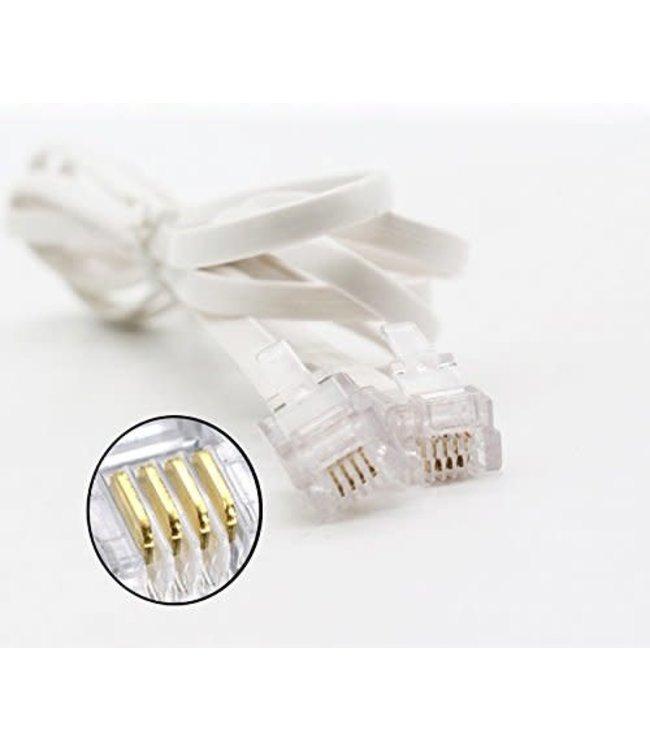 Cable RJ11 téléphone/modem TopSync 10 pi 4 conducteurs blanche