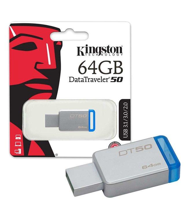 Kingston Cle USB Kingston 64Go USB 3.1 DT50