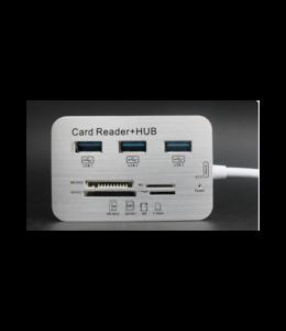 Concentrateur USB 3.0 3 ports avec lecteur de carte SD, Mini SD, Micro SD  à USB C
