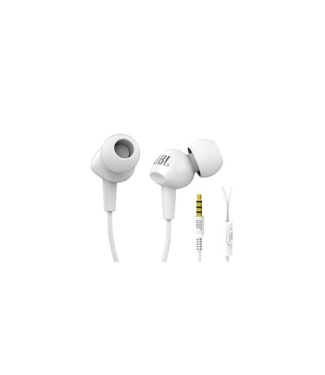 JBL C100SI Écouteurs bouton avec télécommande et micro, Blanc