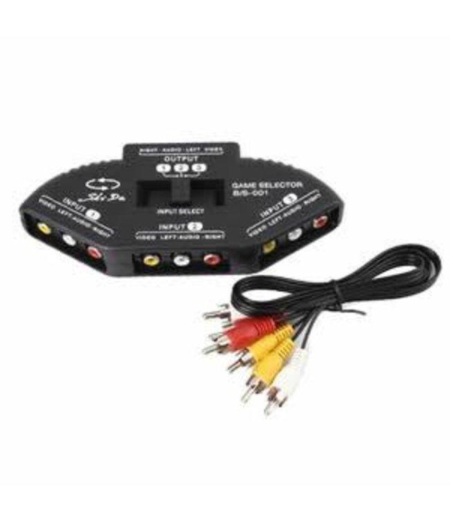 Generic Commutateur AV-104 RCA 3 Input-en-1 sortie composite audio/vidéo