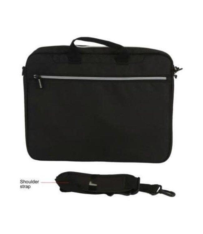 Toshiba Toshiba  sacoche ordinateur portable léger, 16 en, 31,8 x 40,1 x 7,6 cm, Polyester, Noir, Argent
