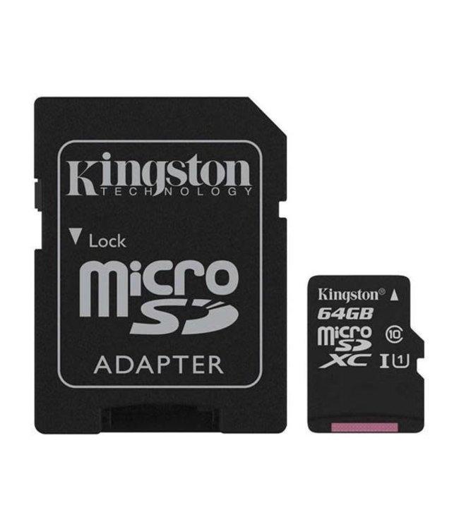 Kingston Canvas Select MicroSDCS+Adaptateur 64Go