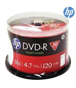 HP DVD-R Printable 16X 50PK