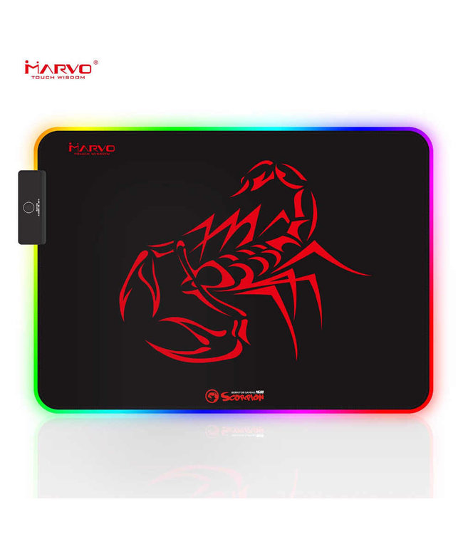 Marvo Tapis de souris Marvo Scorpion Gaming RGB MG08