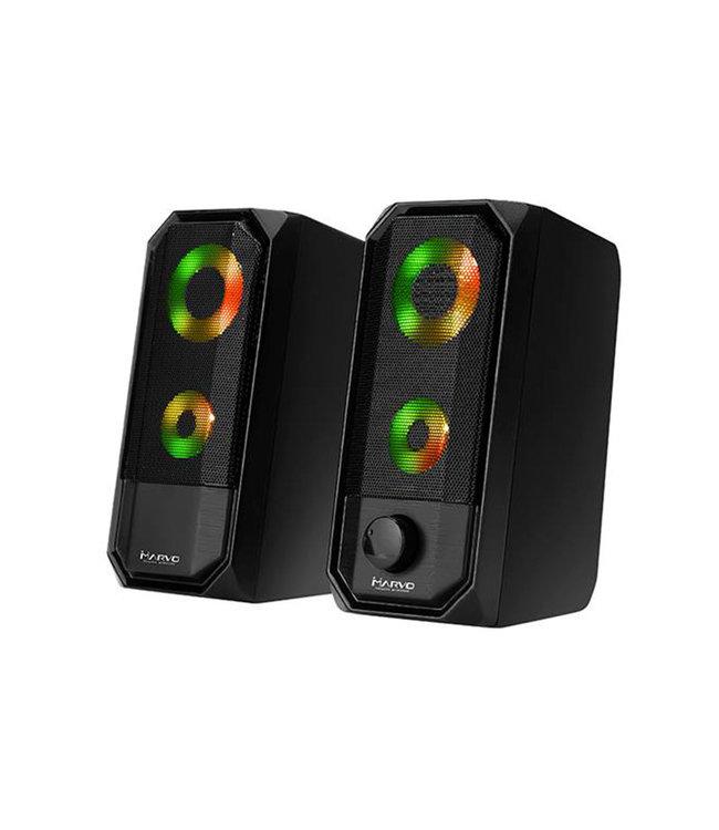 Marvo Haut-Parleur Marvo SG265 2.0 USB  alimenté Audio 3.5mm  RGB