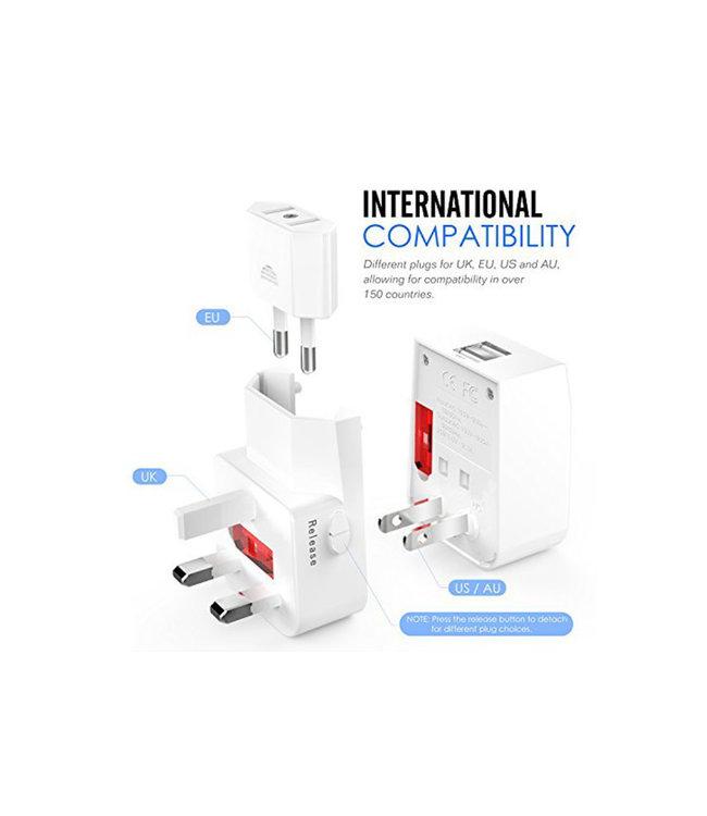 Adaptateur de prise  International avec 2 USB