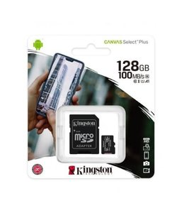 Kingston 128GB Canvas Select Plus avec adaptateur SDCS2/128GBCR