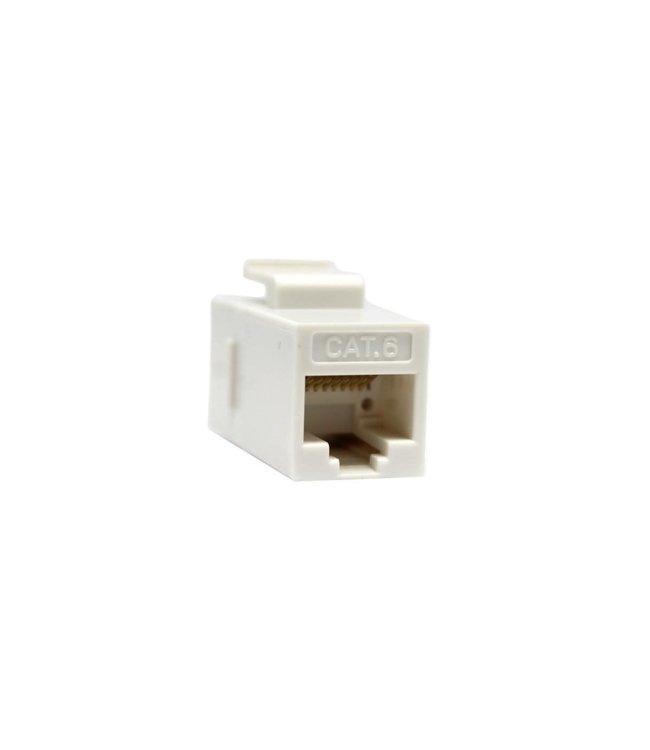 GlobalTone Coupleur en ligne Cat5E et Cat6, Type Keystone, Blanc