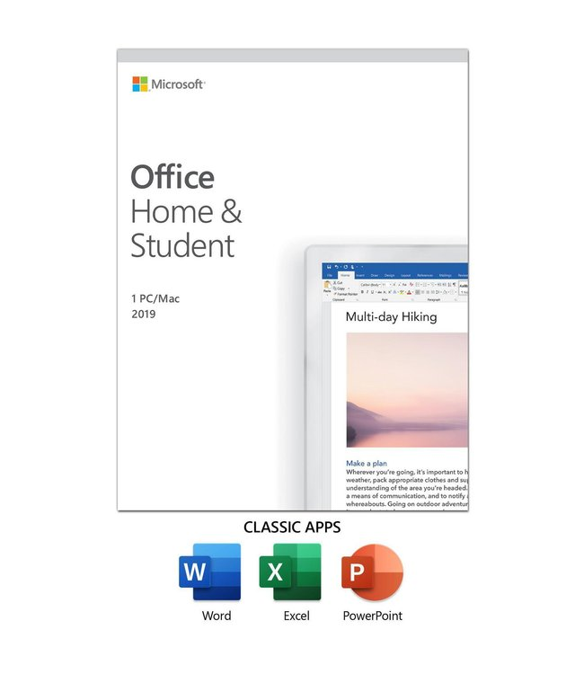 Microsoft Microsoft Office Home and Student 2019 EN/FR