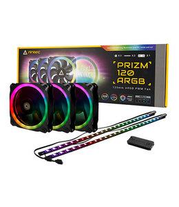 Antec Ventilateur Antec Prizm 120MM ARGB x 3 + 2 LED strip + controlleur