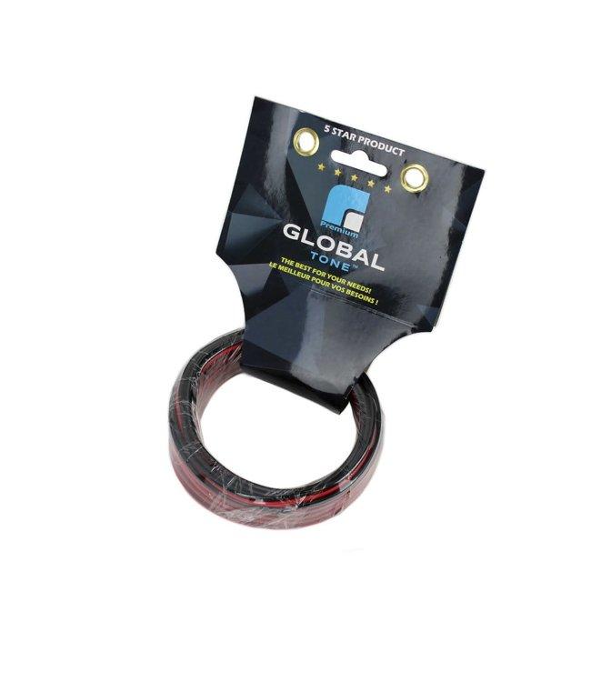GlobalTone Fils de Haut-Parleurs, 18AWG, Rouge/Noir, Retardateur de flamme CCA, 25 pi.